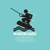 Wakeboard spelaresymbol Royaltyfri Foto