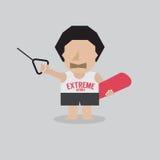 Wakeboard spelaretecken stock illustrationer