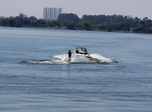 Wakeboard watersport in the lake Stock Photos