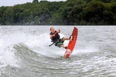 wakeboarder年轻人 库存图片