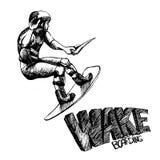 Wakeboarder Royaltyfria Bilder