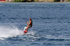 Wakeboarder Photo libre de droits