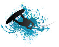 Wakeboarder in actie Stock Foto