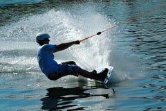 Wakeboarder in actie-5 stock foto's