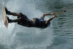 Wakeboarder in action. BELGRADE � JULY 18, World Cable Wakeboard Tour Stock Photo