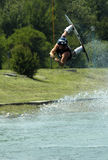 wakeboarder d'action Photographie stock