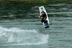 wakeboarder d'action Photo libre de droits