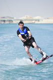 wakeboarder d'action Images stock