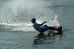 Wakeboarder dans l'action Images stock