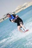 Wakeboarder in der Tätigkeit Stockfotografie
