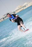 Wakeboarder en la acción Fotografía de archivo
