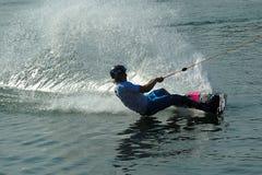 Wakeboarder en la acción Imagenes de archivo