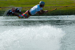 Wakeboarder in flight Stock Photo