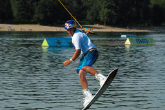 Wakeboarder in jump Stock Images