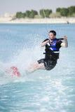 Wakeboarder na ação Fotos de Stock Royalty Free