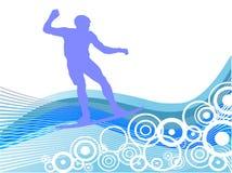 Wakeboarder na ação Fotografia de Stock