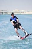 Wakeboarder na ação Imagens de Stock