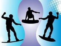 Wakeboarder na ação Imagem de Stock Royalty Free