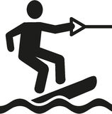 Wakeboarder pictogram Royalty Free Stock Images