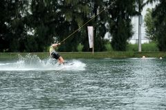 Wakeboard action sports. stock images