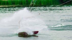 Wakeboarder que hace la onda Imagen de archivo