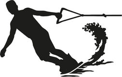 Wakeboarder silhouette Royalty Free Stock Photography