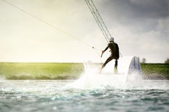 Wakeboarder Splash Stock Photo