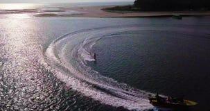 Wakeboarding在果阿 影视素材