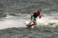 Wakeboarding演示 图库摄影