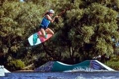 wakeboarding的世界冠军 免版税库存图片