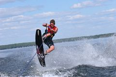 Wakeboarding Royalty Free Stock Photos