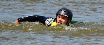 Wakeboarding Fotografía de archivo libre de regalías
