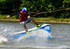 Wakeboarding stockfoto