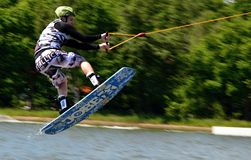 Wakeboarding Immagine Stock