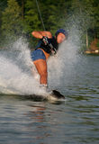 Wakeboarding. Man Wakeboarding on the lake Stock Photos