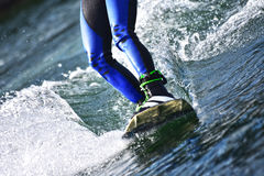 Wakeboarding as extreme and fun sport Stock Photography
