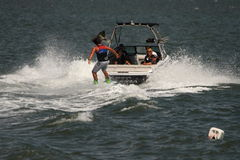 Wakeboarding demonstration Royalty Free Stock Image