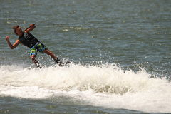 Wakeboarding demonstration Royalty Free Stock Photo
