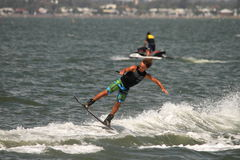 Wakeboarding demonstration Royalty Free Stock Photos