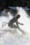 Wakeboarding Fall Royalty Free Stock Photo