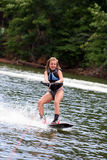 Wakeboarding Girl Stock Photography
