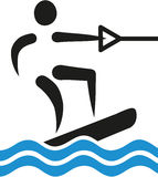 Wakeboarding icon Royalty Free Stock Images
