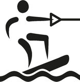 Wakeboarding icon. Symbol abstract vector Stock Image