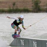 wakeboarding kobieta Zdjęcie Stock