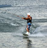 Wakeboarding on the Lotus Lake Stock Images