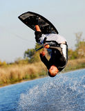 Wakeboarding Somersault. On the Delta stock images