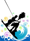 Wakeboarding vector Stock Photo