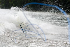 Wakeboarding wipeout Royalty-vrije Stock Foto