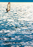 Wakebording på laken Arkivfoton