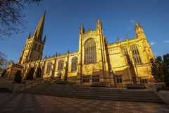 Wakefield Cathedral.Great Britain. View of medieval Wakefield Cathedral in York West Yorkshire, Great Britain royalty free stock photos